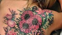 Çiçek Desenli Dövmeler