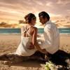 Sahil düğünleri çok romantik!
