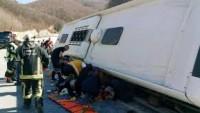 Ankara'da Şehirler Arası Yolcu Otobüsü Şarampole Devrildi