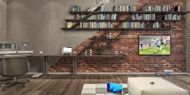 Çalışma odası ve oturma odası dekorasyonunda yang!
