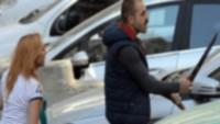 Taksici ünlü futbolcuya palayla saldırdı